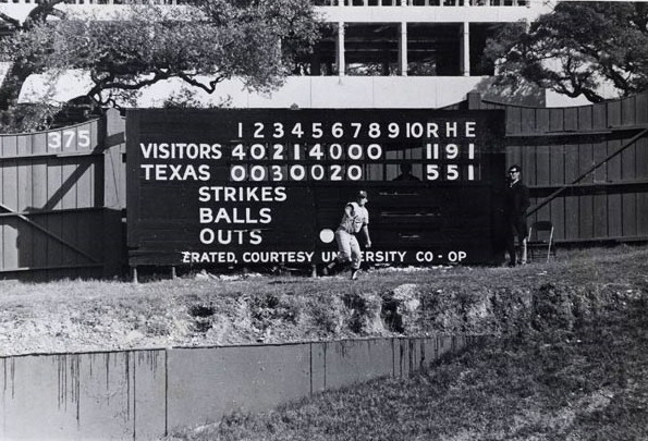 Billy Goat Hill makes the new Longhorn stadium very unique. It has a 12 to 15 foot cliff in fair territory. Longhorns outfielders learned mountain climbing skills that reduce inside the field homers to a long triple.