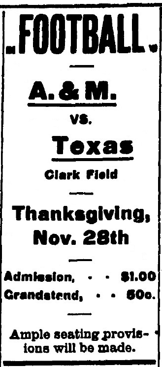 Ticket to the Aggie game
