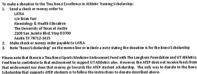 Tina Bonci Excellence in Athletic Training Scholarship .jpg