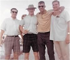 1963 @ Texas Phil Harris, Tommy Nobis, Diron Talbert, Pete Lammons
