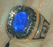 Hub Bechtol College Hall of Fame Ring