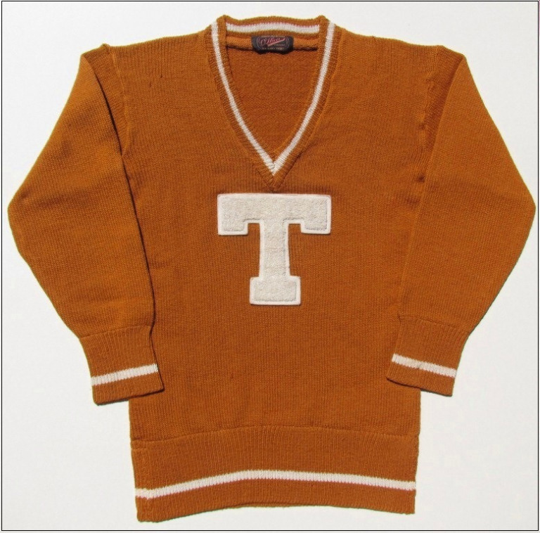 1928 letter sweater -