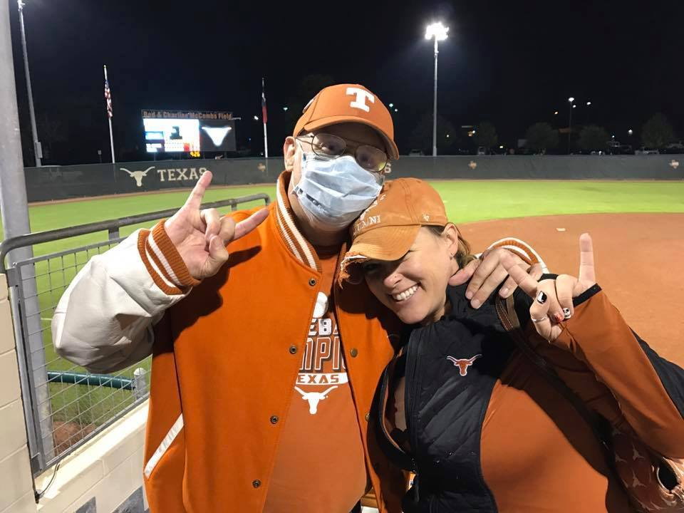Wesley was a loyal attendee of Longhorn games even when he was fighting cancer. -