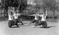 Copy of Training with bloomers and wooden sticks