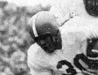 1951 Orange helmet with white stripe