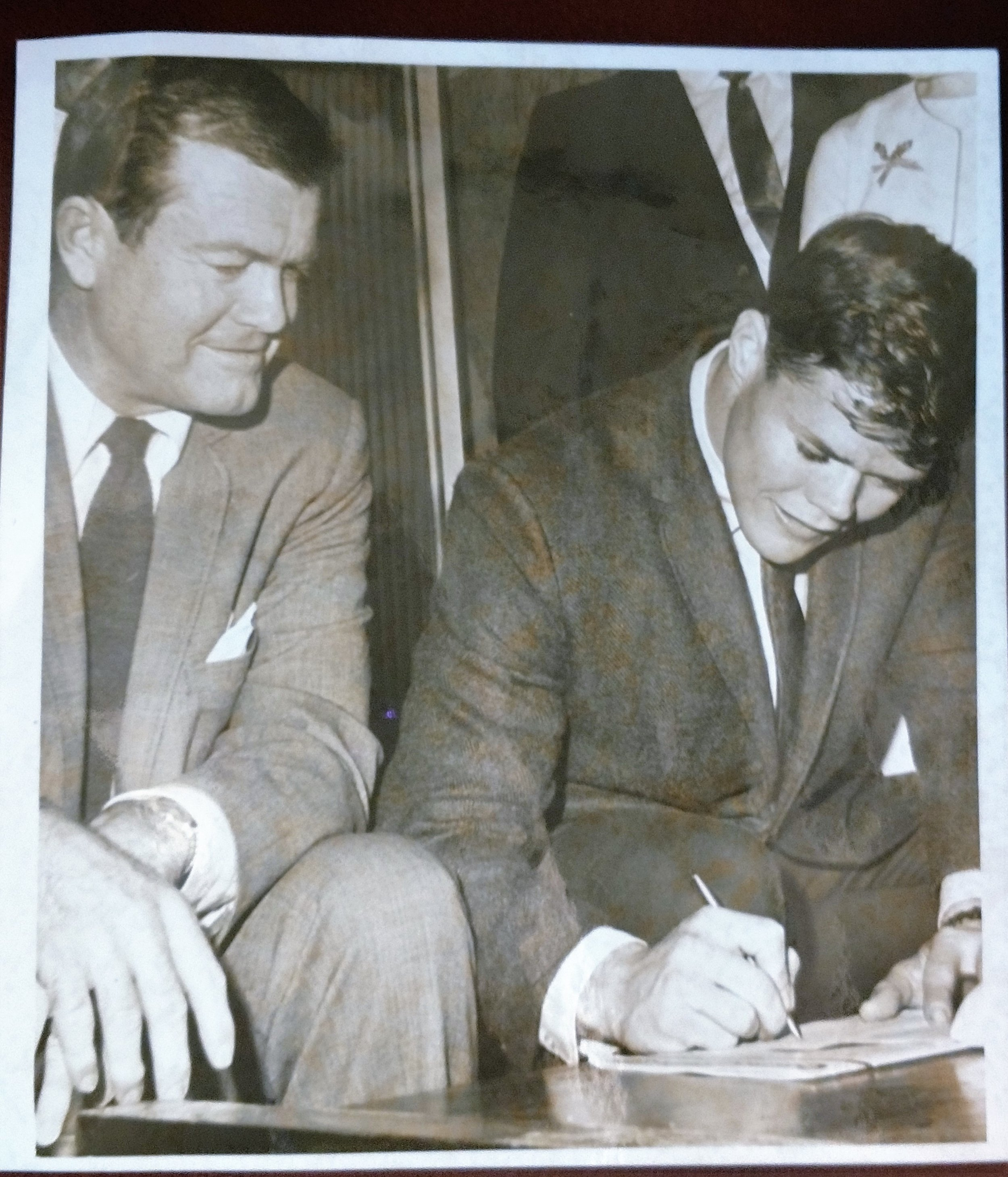 Copy of Signing date 1967 with DKR