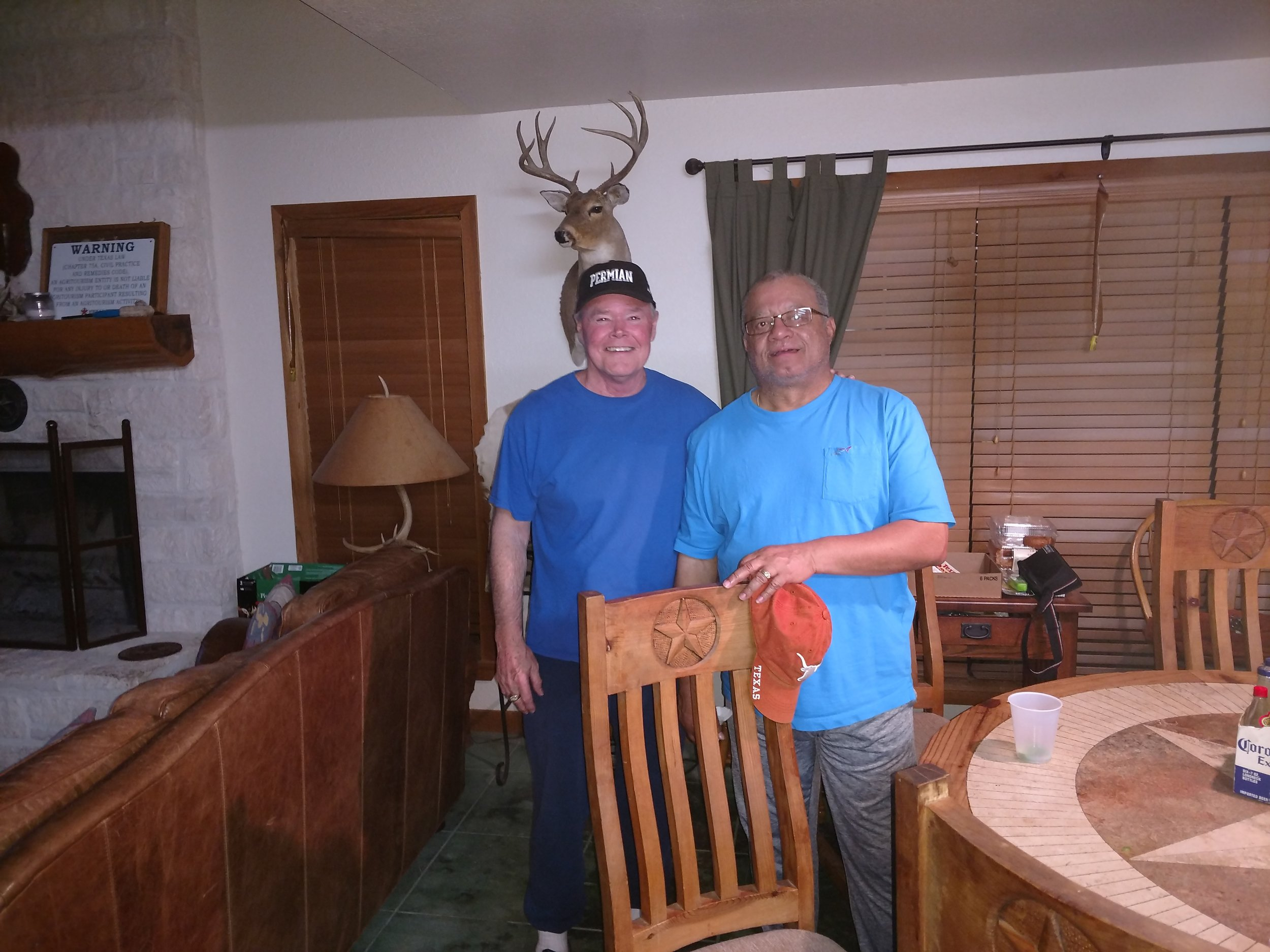 The last place winners at horseshoes -Lonnie and Billy