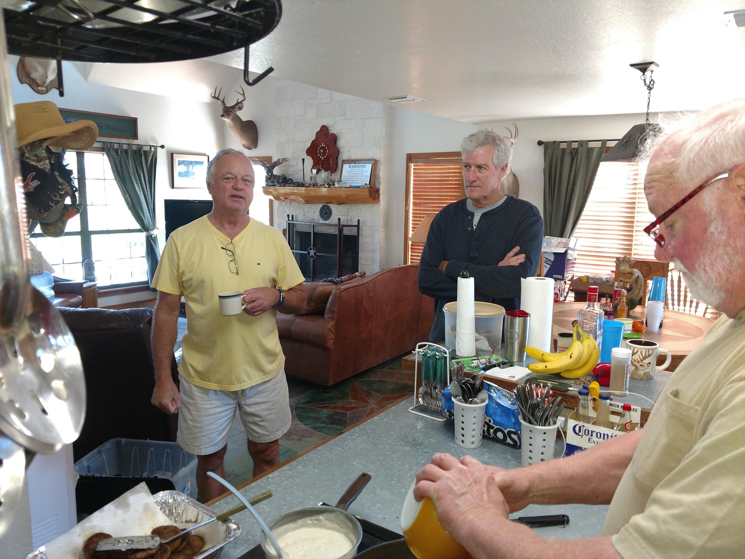 Steve, Bob, and Mark