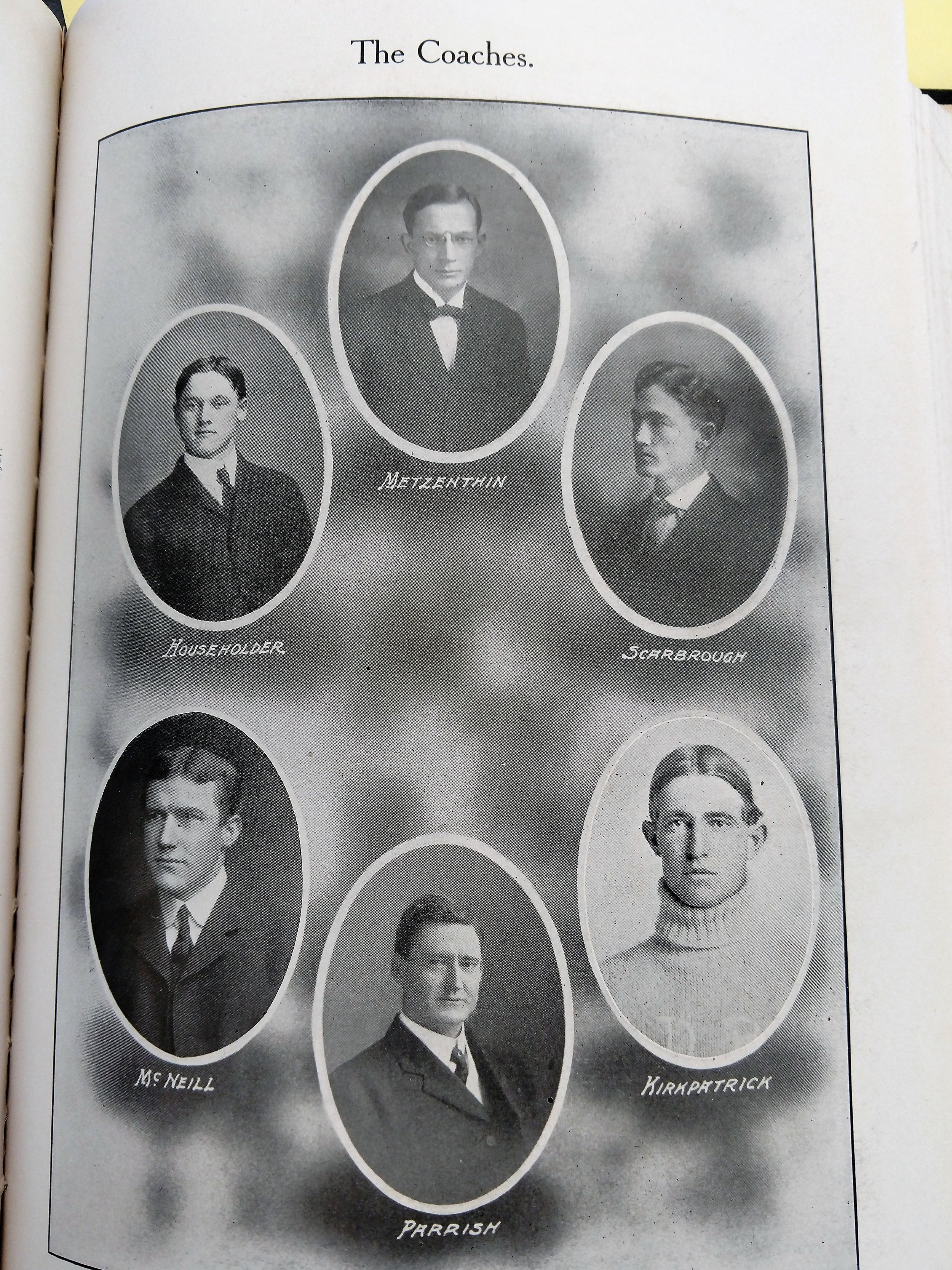 1908 coaching staff