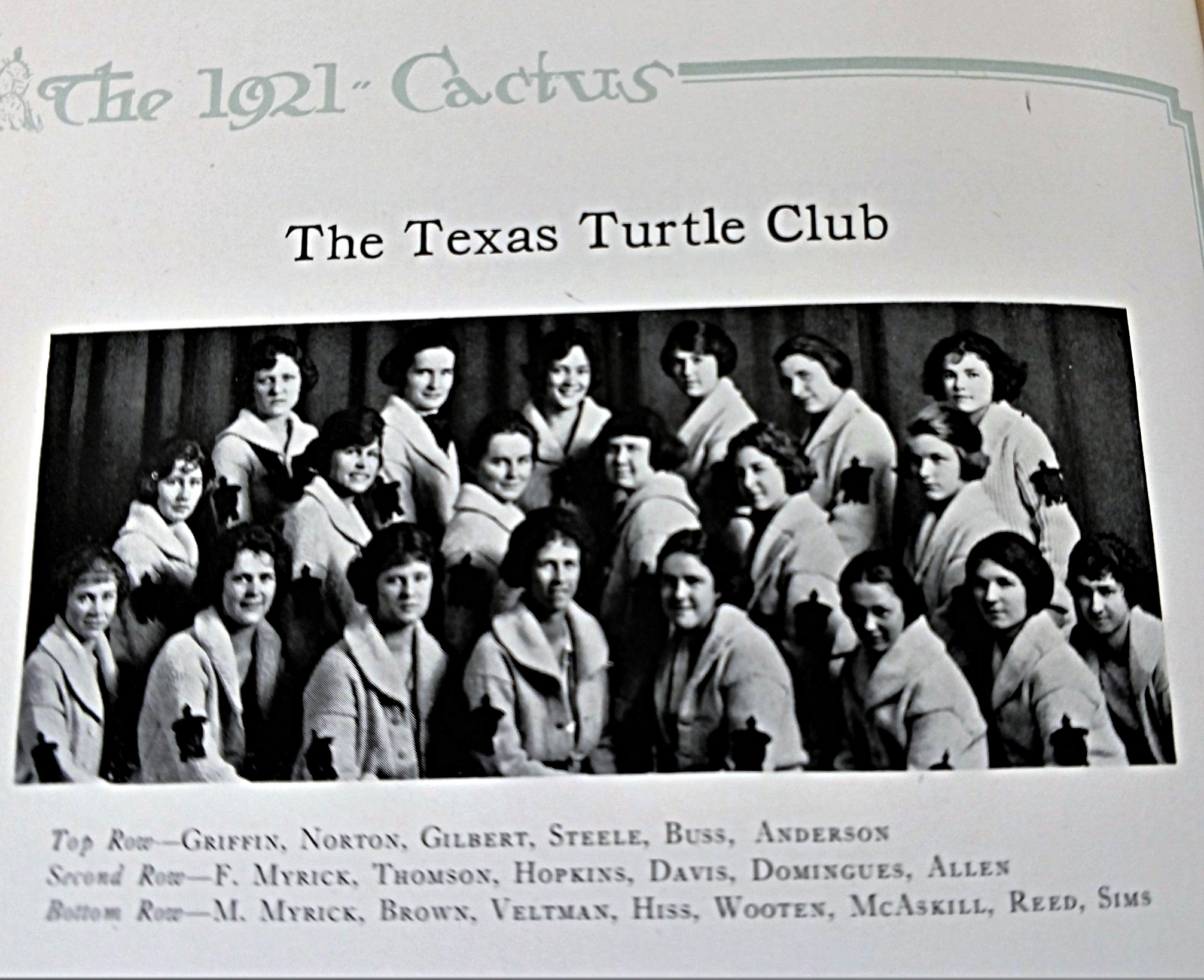 Copy of Turtle club for women swimmers begins- The sweaters have a turtle logo