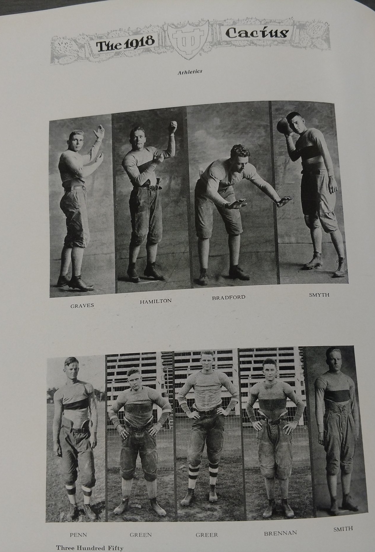 1918 football roster