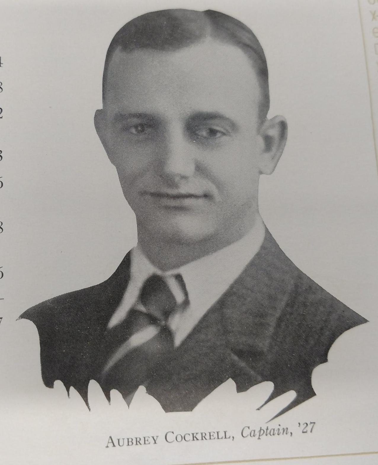Captain Aubrey Cockrell 1927