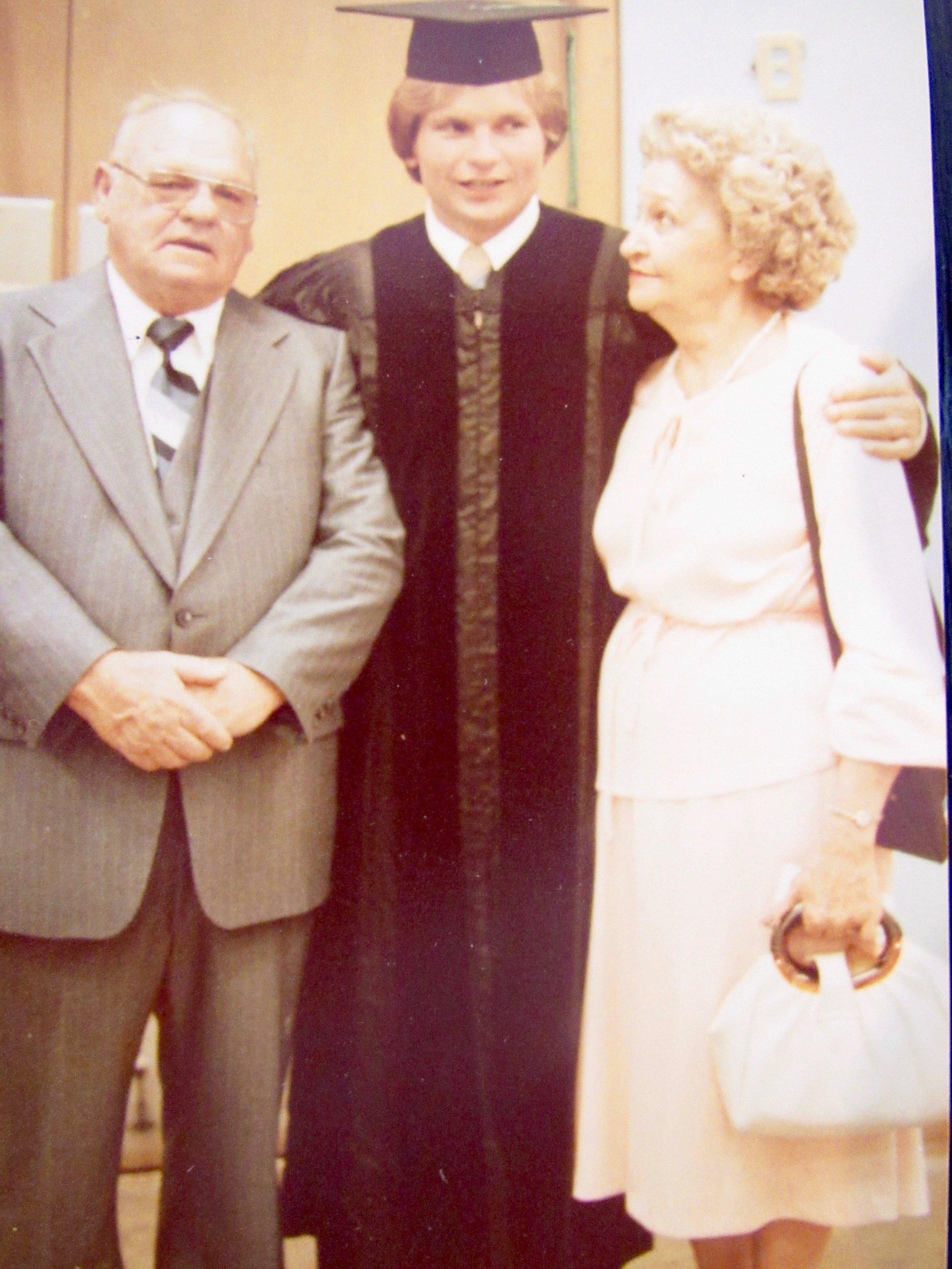 Jim's graduating ceremony