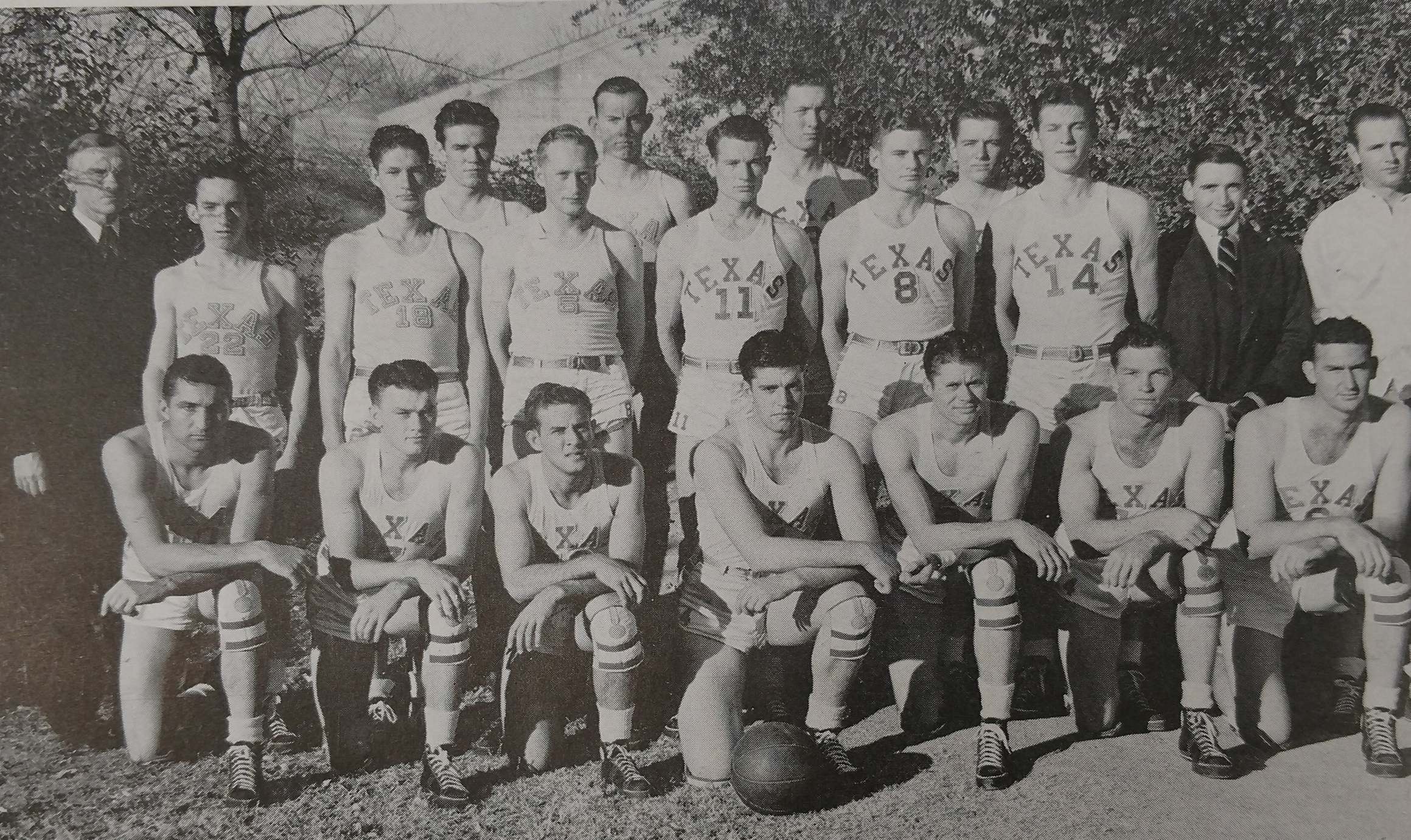 Bottom- Spears, Nelms, Moers, Tate, Finley, Wiggins, Roach second row Kelley, Greer, King, Simmons, Hull, Moore, Granville, Schwartz, Gray third row Garrison, Anderson, Houpt, Cooley
