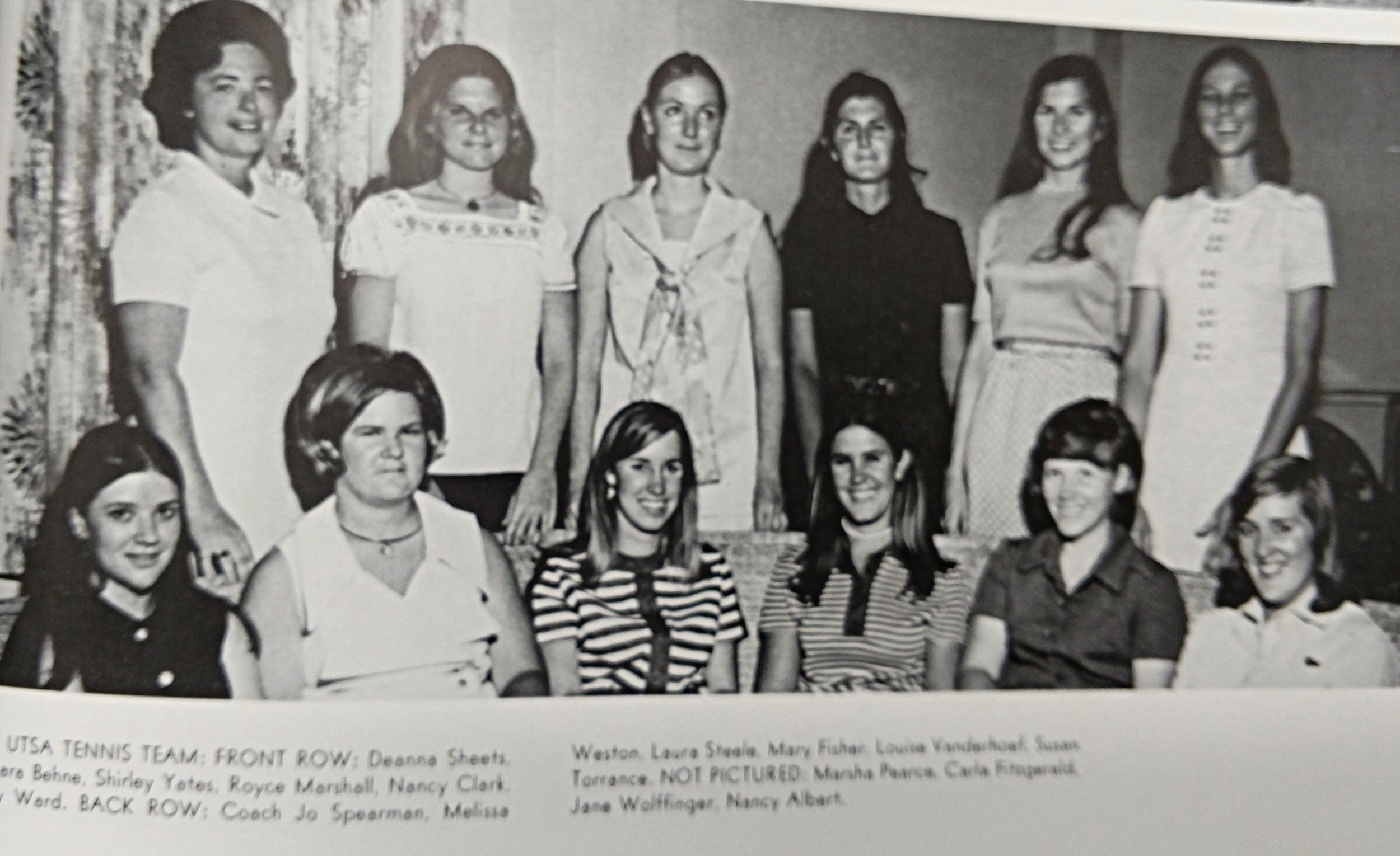 1971 Tennis team Coach Jo Spearman