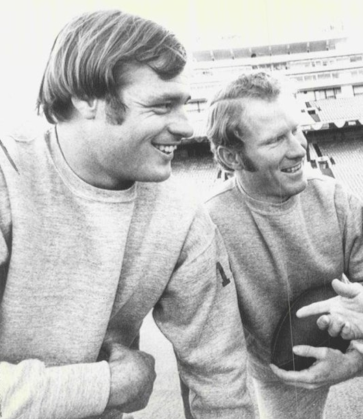 Two of Emory's great wishbone quarterbacks