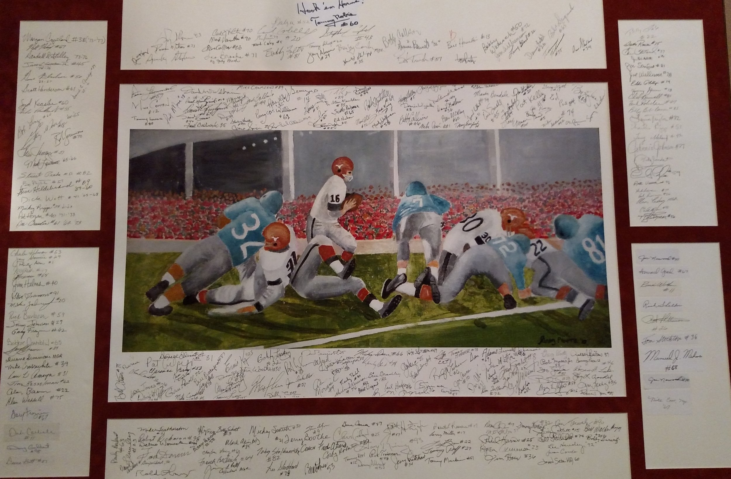 Ploetz painting signed by 285 DKR players will be auctioned this year.