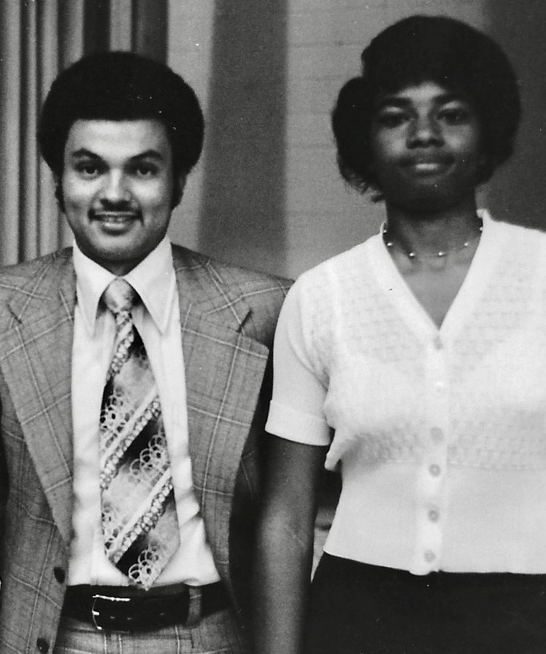 With Retha at Center HS Awards Ceremony, Spring 1975. -
