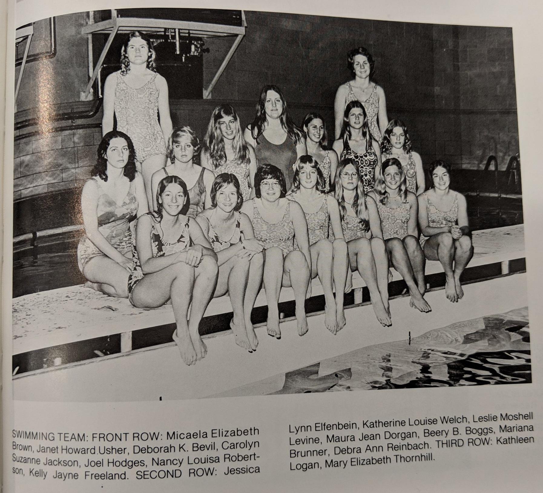 1973 UTSA swimming