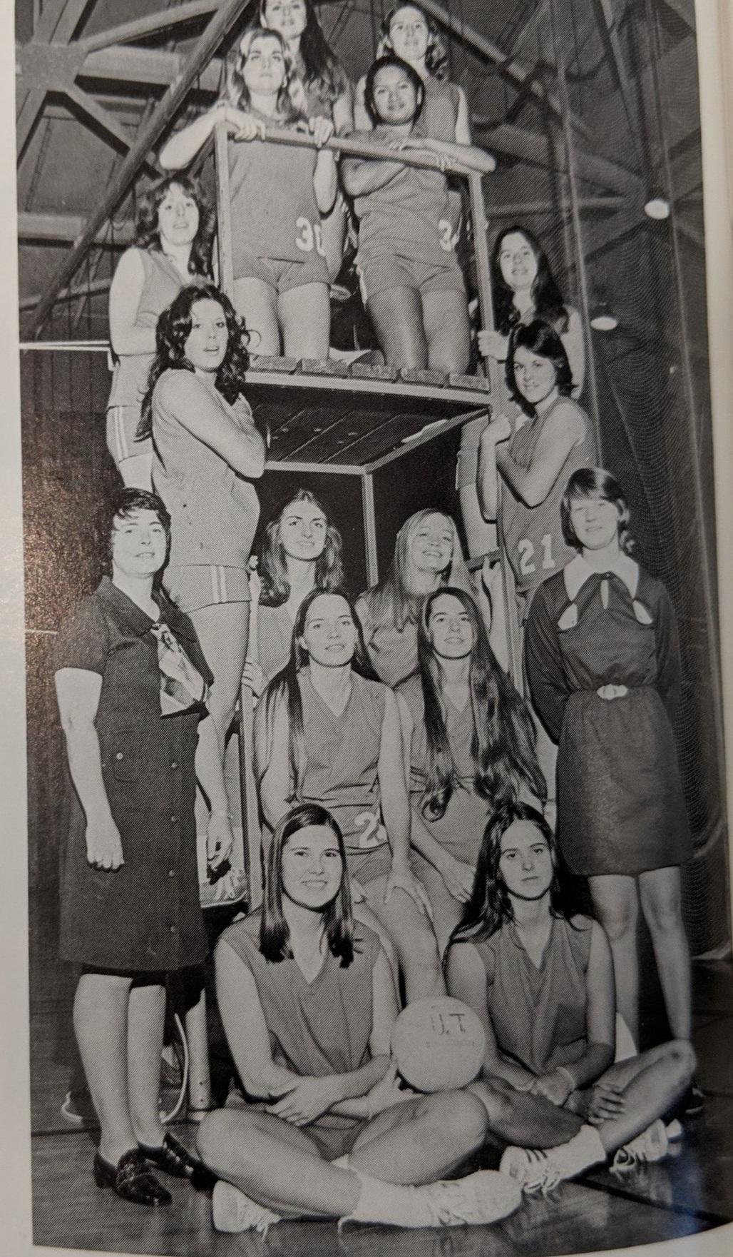 1972 UTSA Basketball Coach Spearman far left