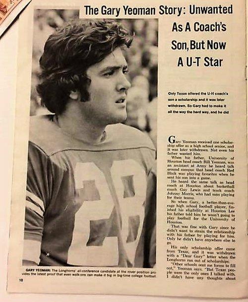 Gary Yeoman played for Texas