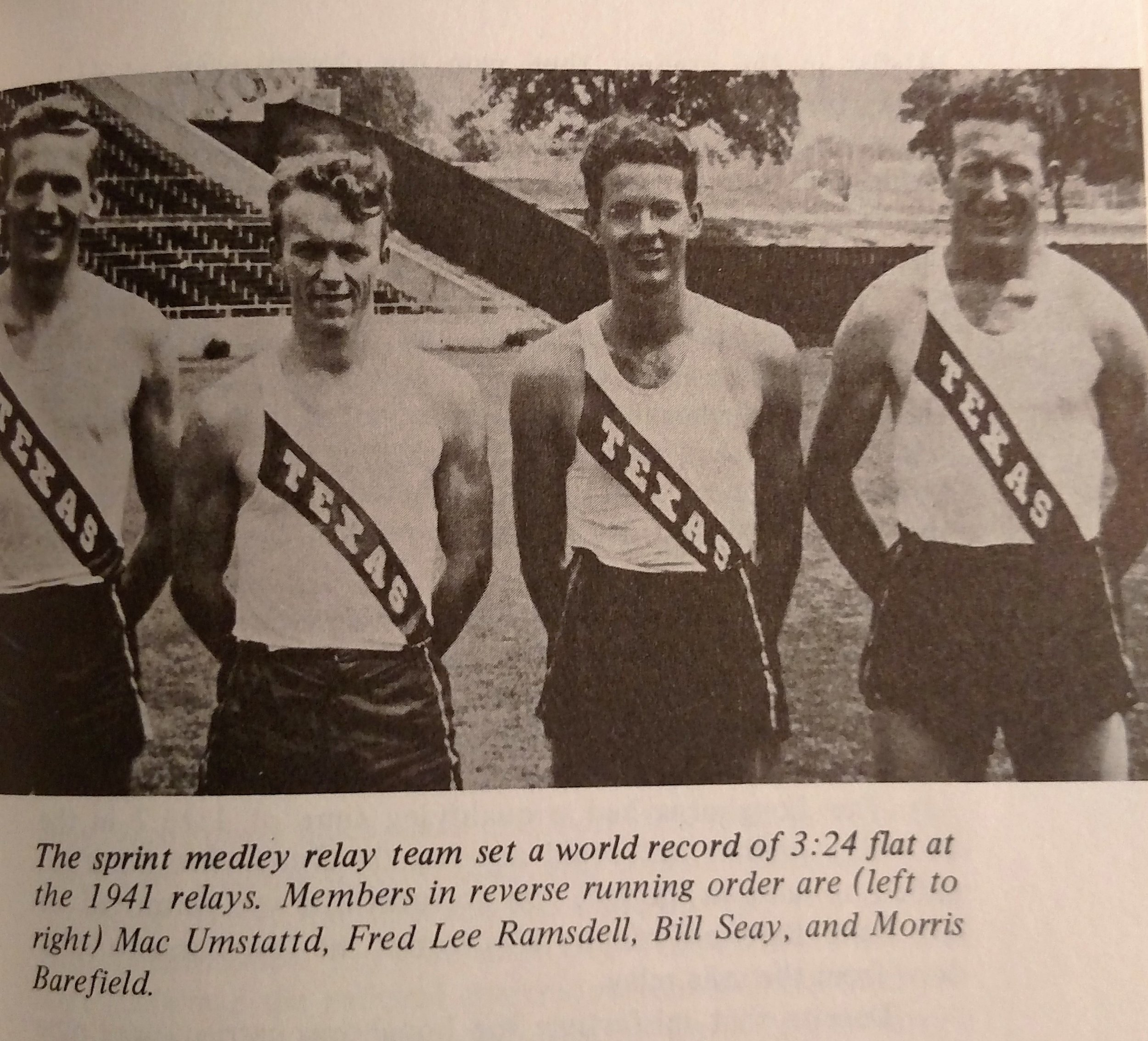 Mac Umstattd, Fred Ramsdell, Bill Seay, and Morris Barefield. -