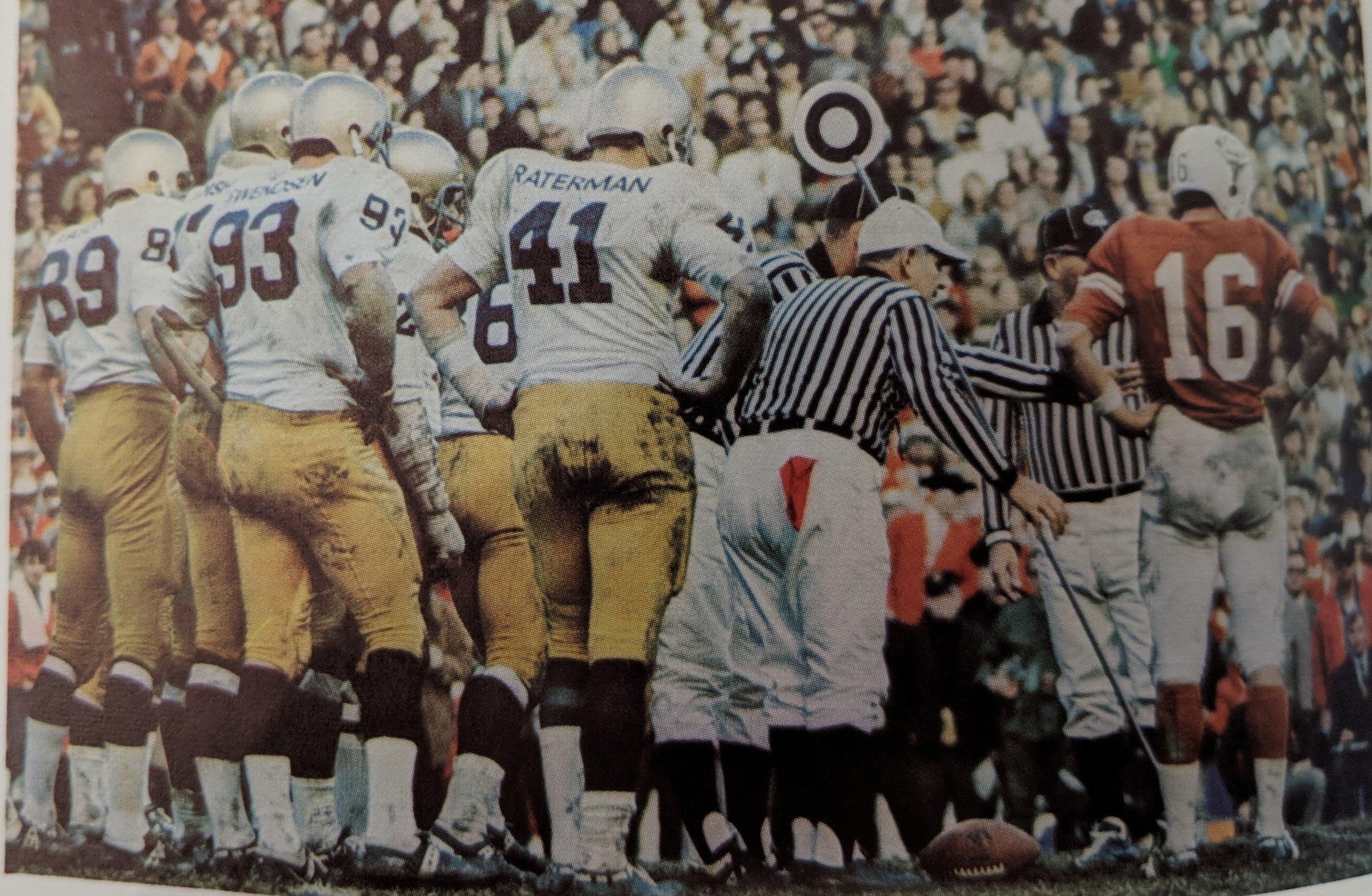 Street vs the  Notre Dame defense.