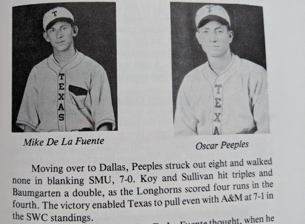"""MARIO """"MIKE"""" DE LA FUENTE is the first citizen of Mexico inducted into the HOH.  During his years at Texas he only lost one collegiate  game."""