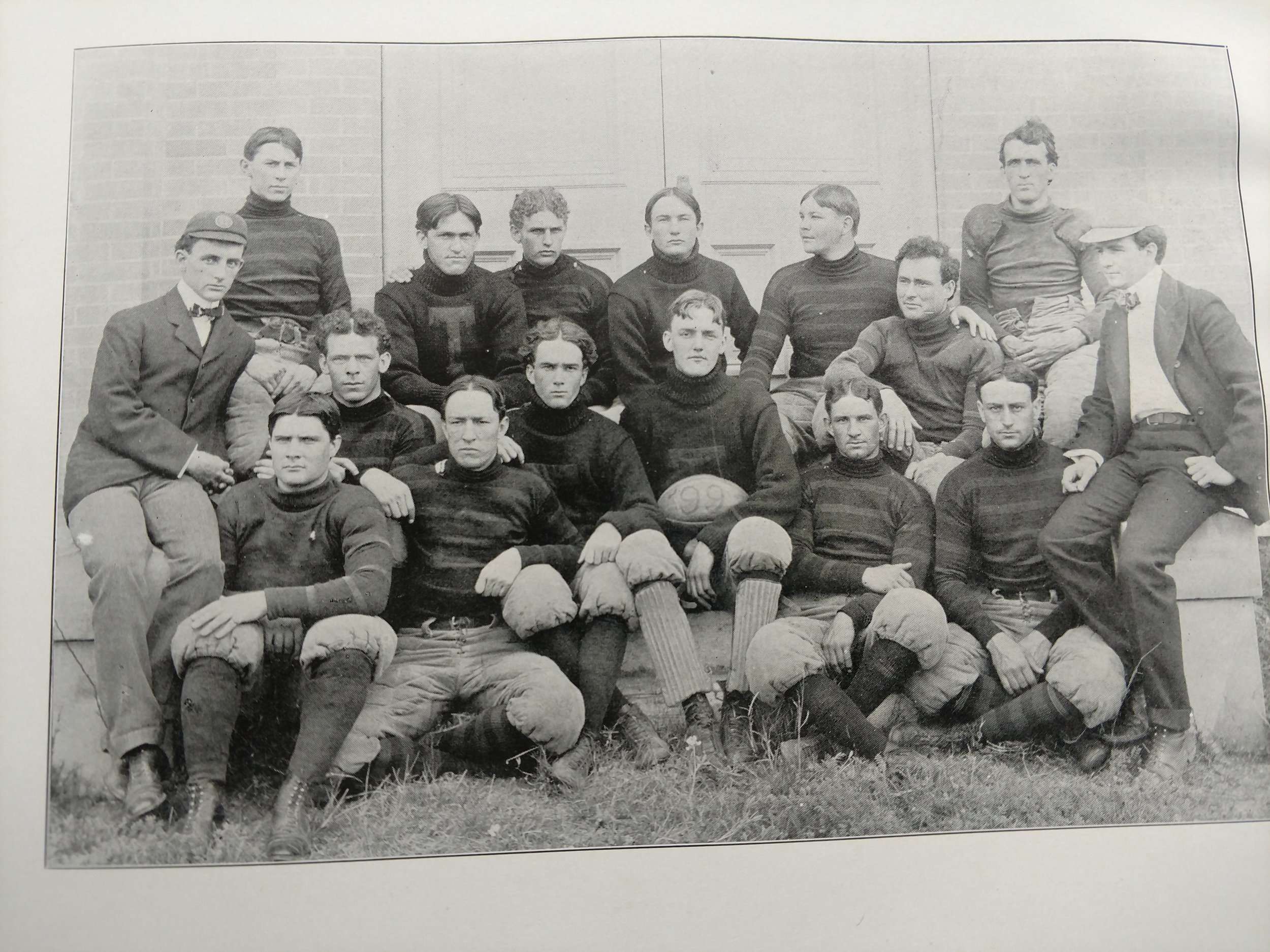 1899 Stewart's grandfather played on the 1899 team