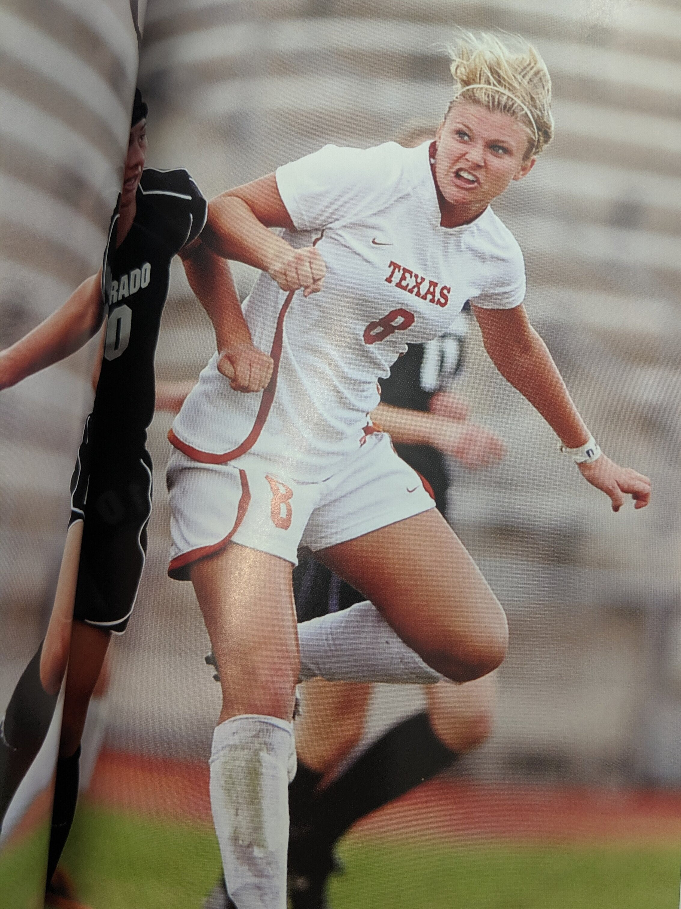 Photo is Kristin Cummiss - Horns lose to the Aggies in the semi-finals of the Big 12 tournament