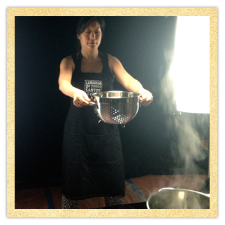 Sue Chef boiling pasta