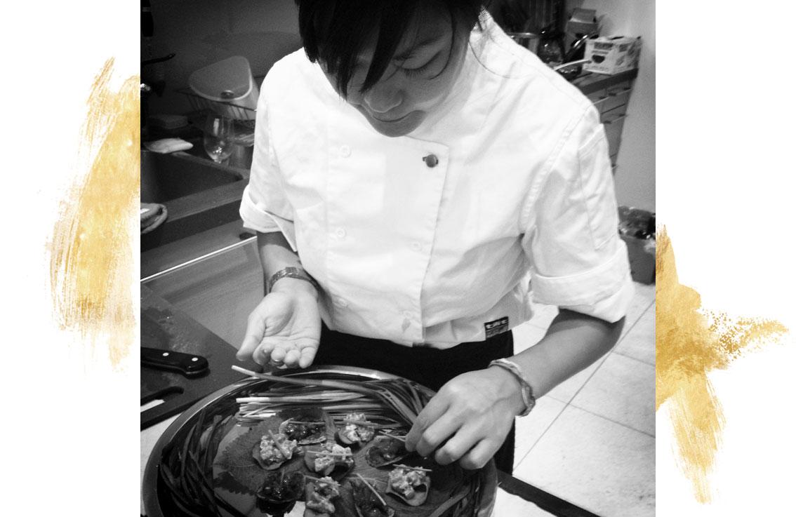Sue Park cooking
