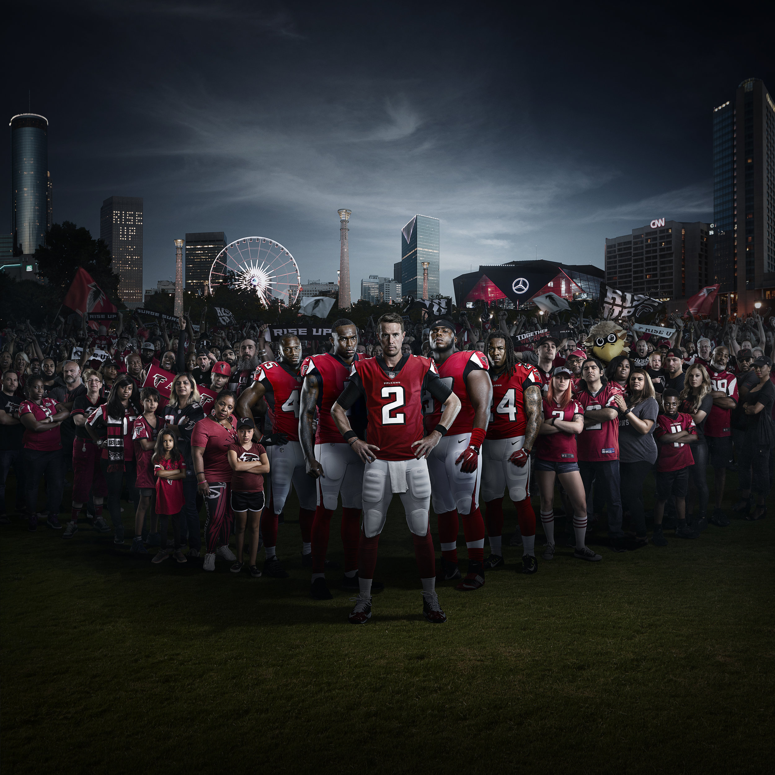 ATLANTA FALCONS - PHOTOGRAPHY • COMPOSITING • RETOUCHING • COLOR & FINISH