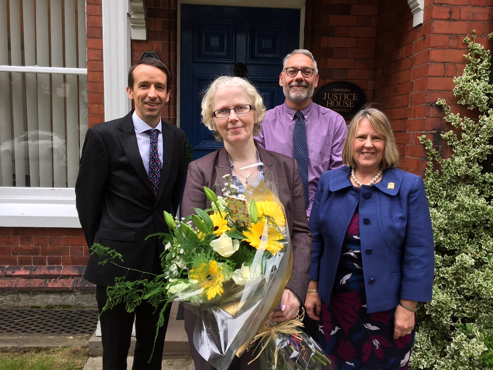 Solicitors at Fiona Bruce's offices in Warrington