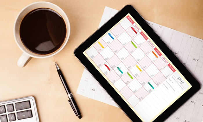 A planner offering organisation to flexible working