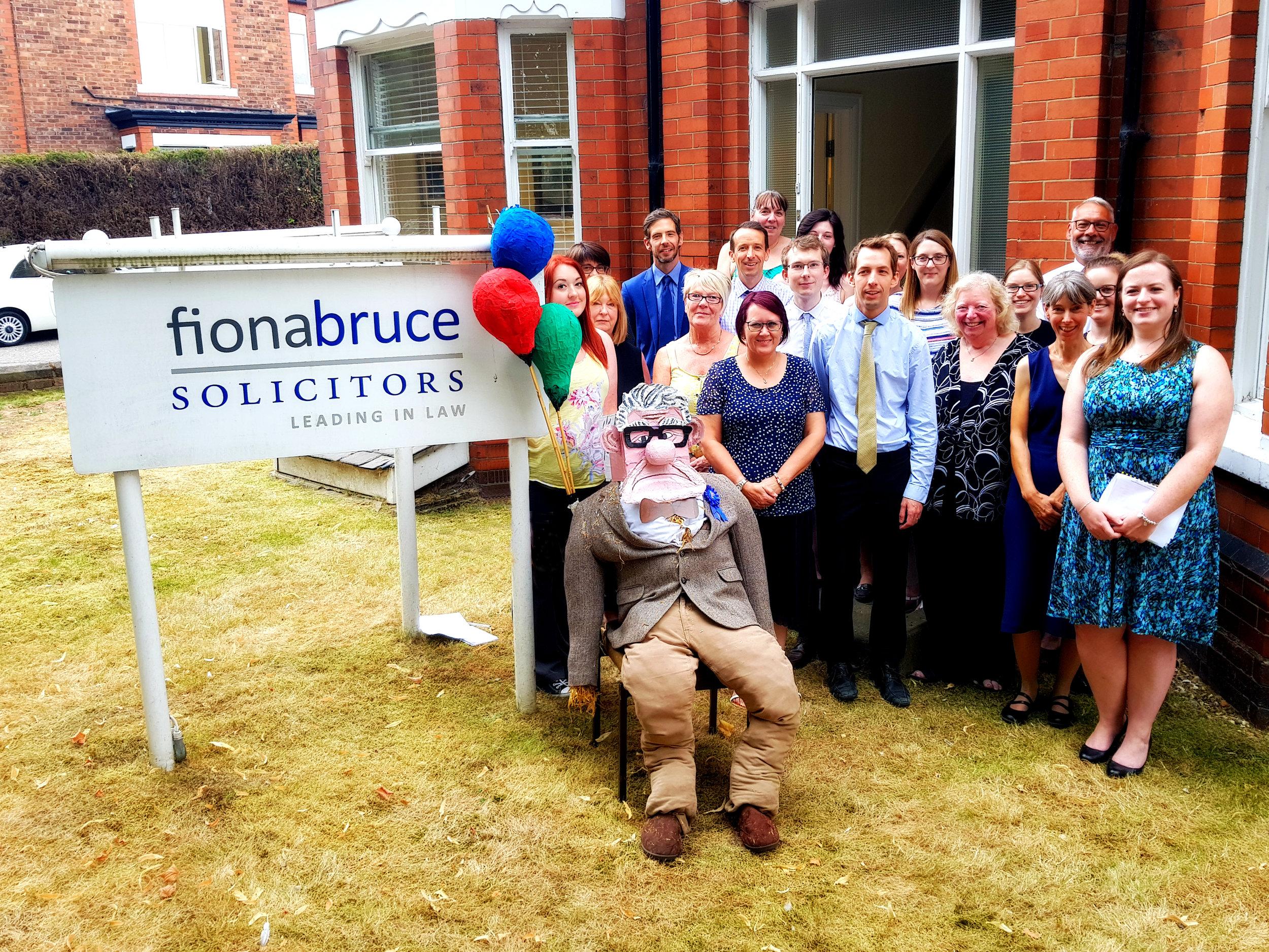 Solicitors in Warrington win the Stockton Heath Festival Scarecrow Competition