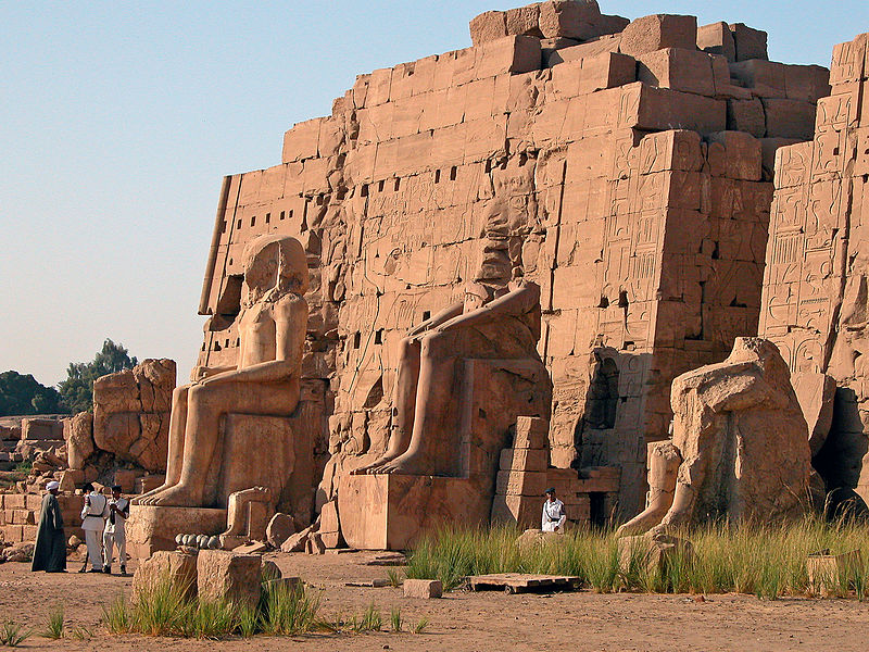Colossal Statuary at Karnak. Image courtesy of  Dennis Jarvis