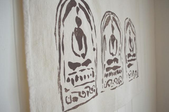 Untold Imprint Three Buddhas towel