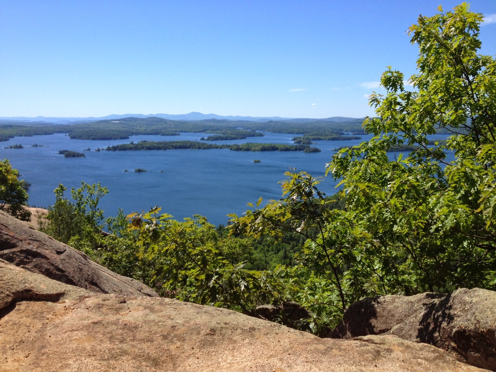 View from Rattlesnake Mountain at Squam lake