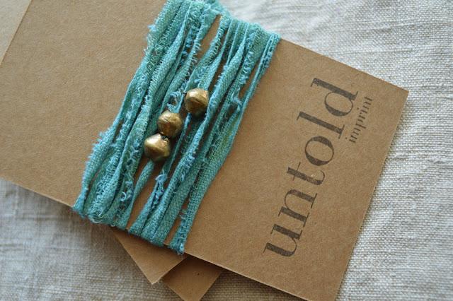 Untold Imprint Cotton Wrist Wrap