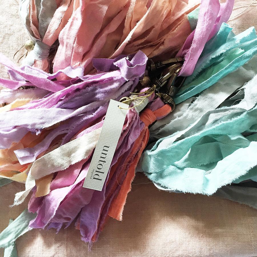 pocket garland tassels for key fobs or bag decoration. Handmade by Untold Imprint