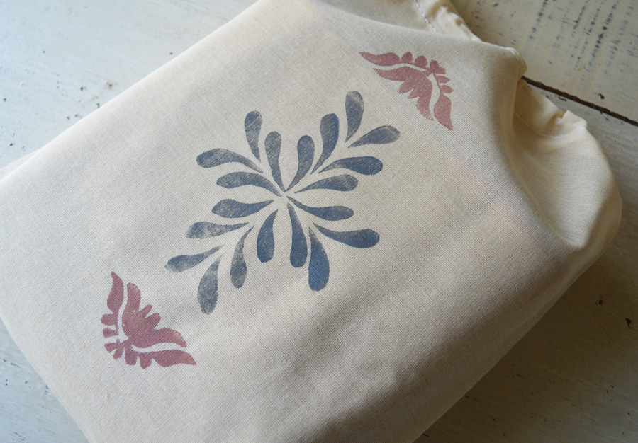 reusable block print cotton pouch for DIY garland by Untold Imprint