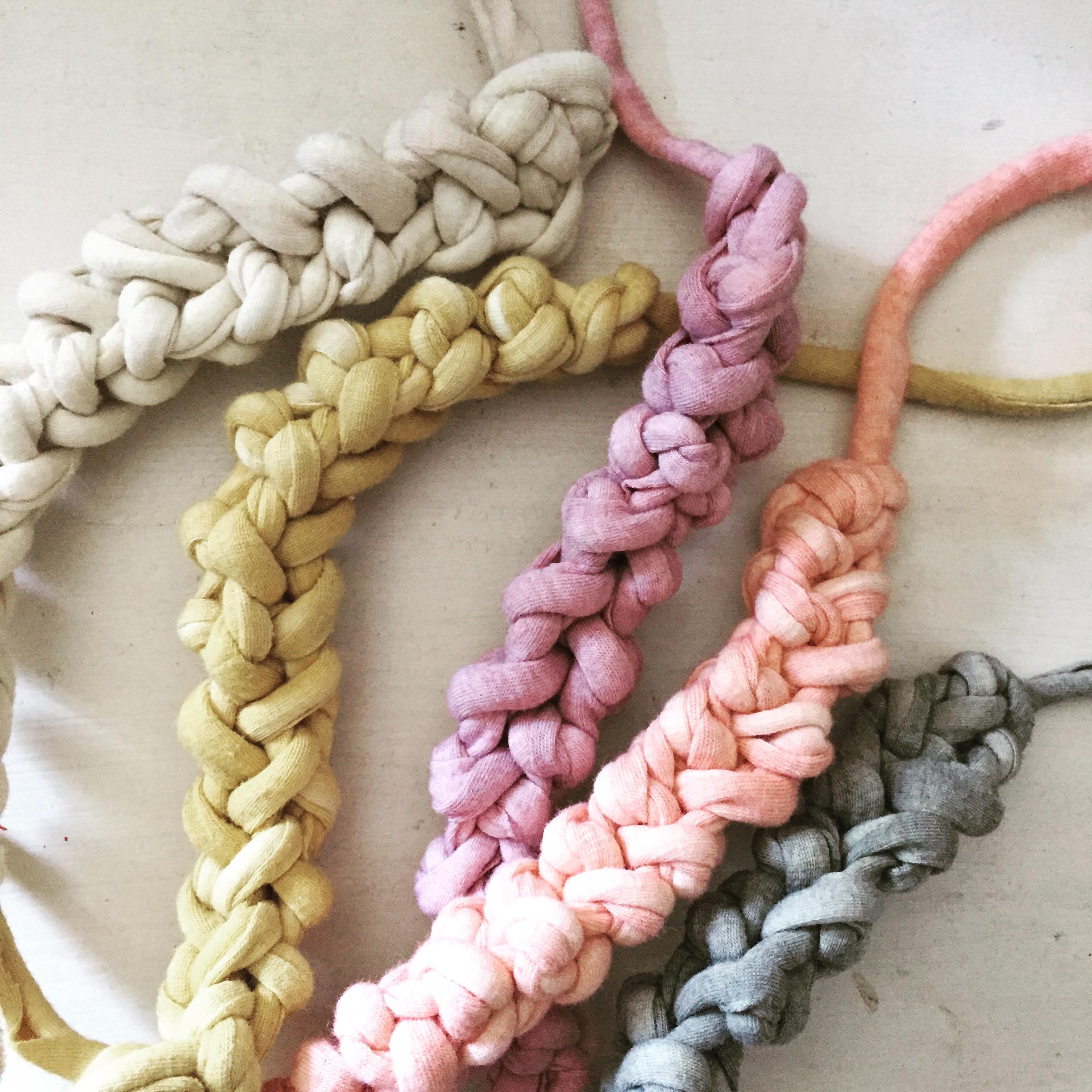 naturally dyed soy jersey knit bracelets by Untold Imprint