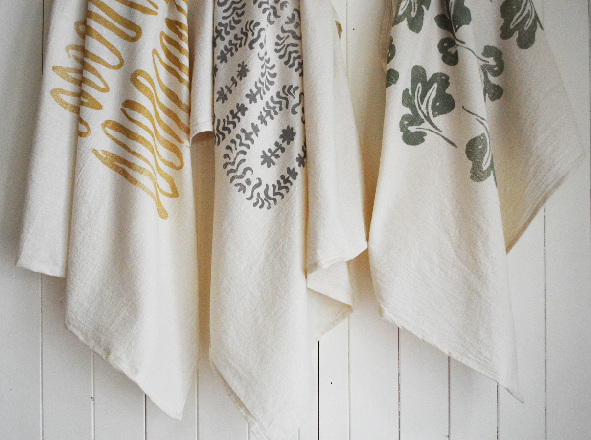 printed oversized tea towels by Untold Imprint