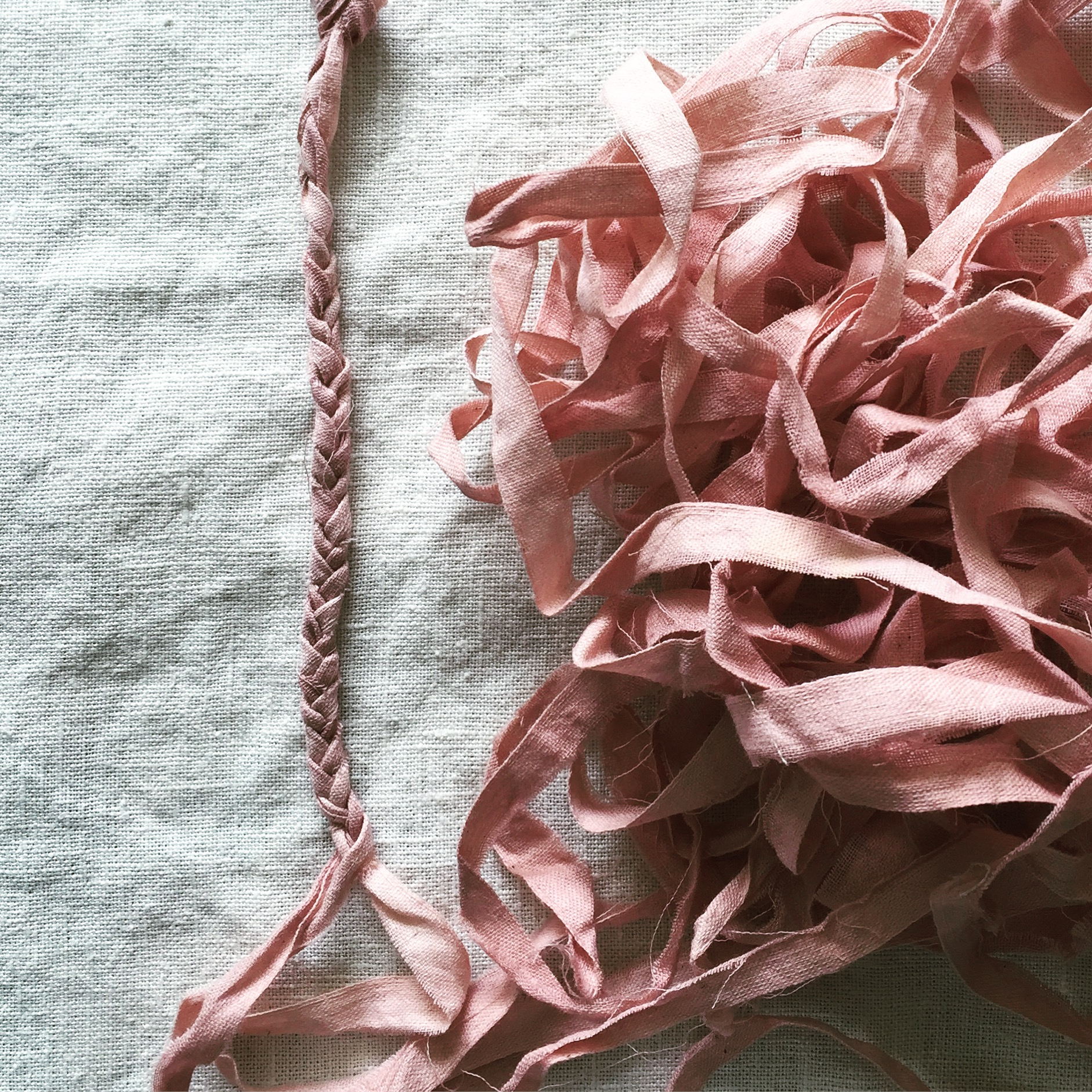 organic cotton naturally dyed with Madder Root