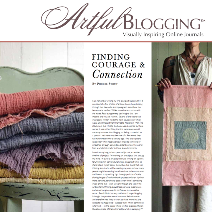Untold Imprint feature in Artful Blogging Winter 2017