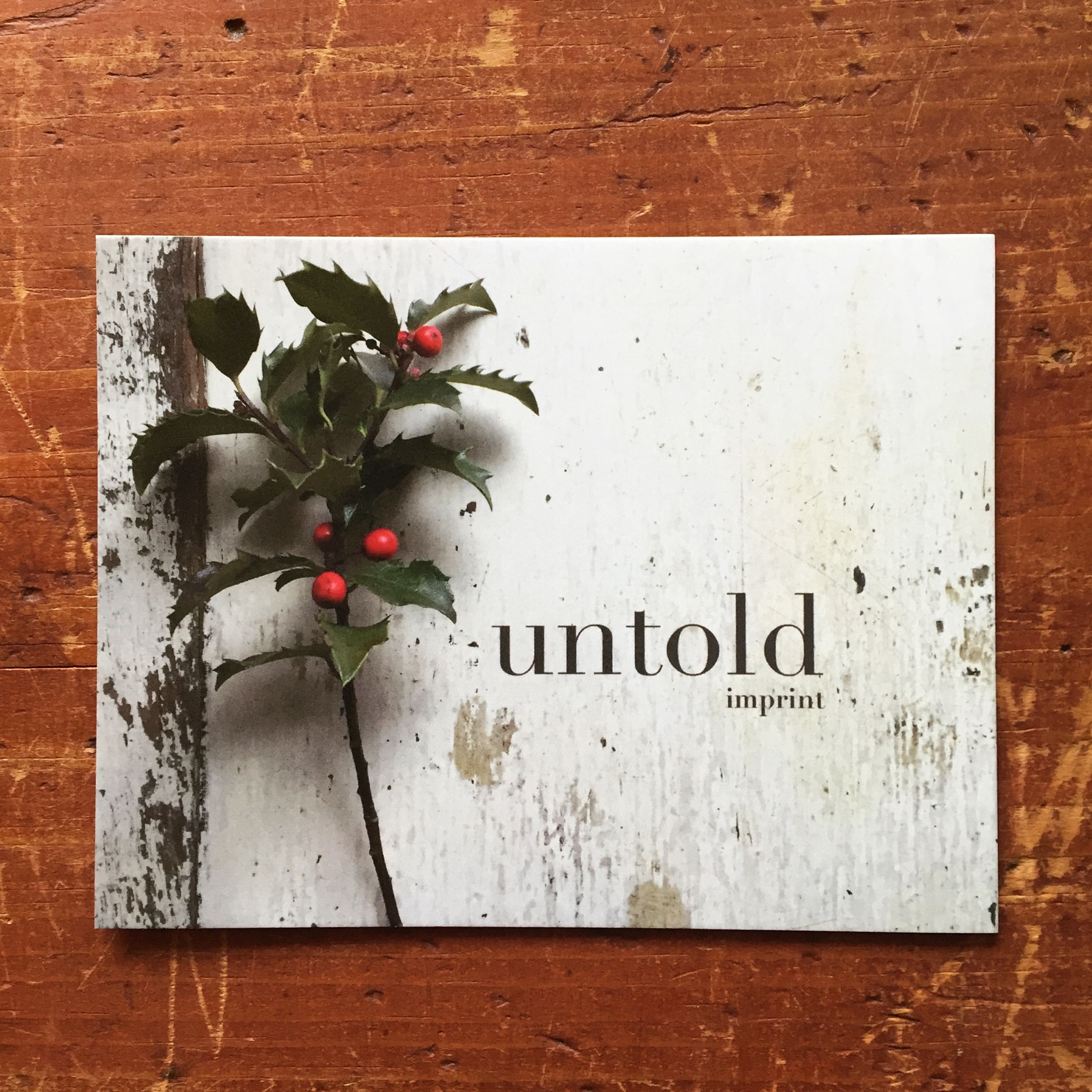 holly postcard by Untold Imprint