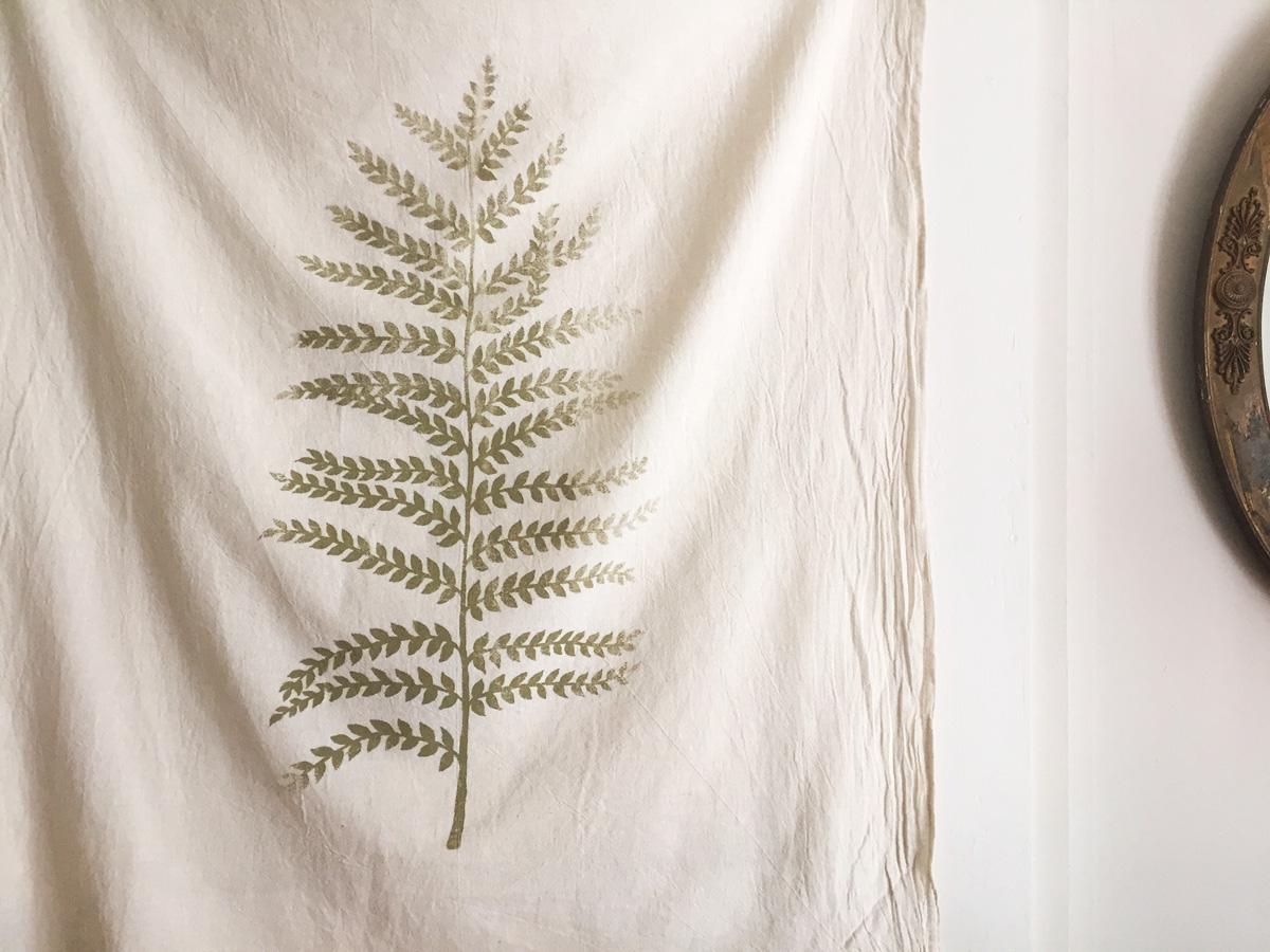 Fern cotton towel by Untold Imprint