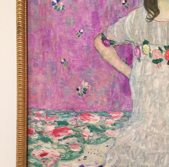 detail of  Mada Primavesi by Gustav Klimt.