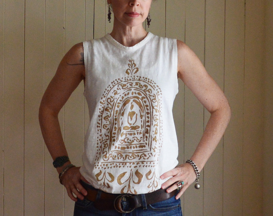 Buddha Altar print tee by Untold Imprint
